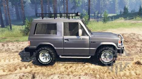 Mitsubishi Pajero I v2.0 для Spin Tires