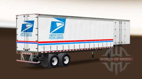 Скин USPS на полуприцеп для American Truck Simulator