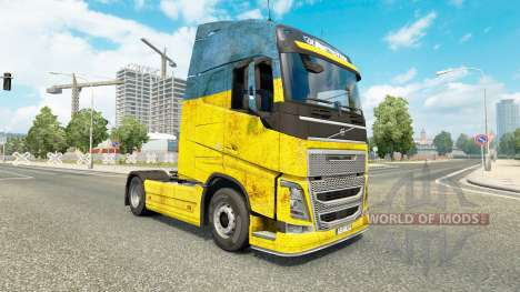 Скин Ukraine на тягач Volvo для Euro Truck Simulator 2
