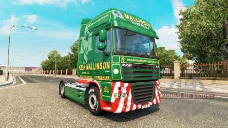 Скин Ken Mallinson на тягач DAF для Euro Truck Simulator 2