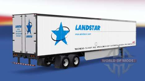 Скин LandStar на полуприцеп для American Truck Simulator