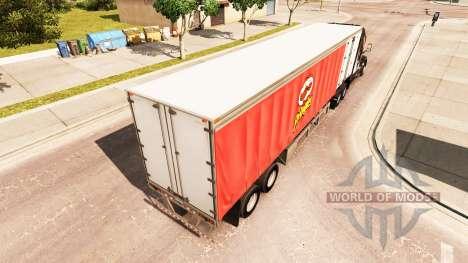 Шторный полуприцеп Pringles для American Truck Simulator