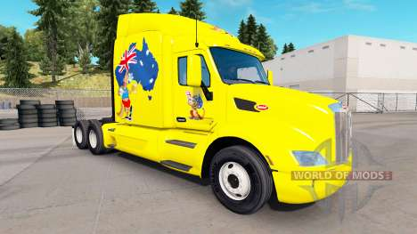 Скин Kangaroo на тягач Peterbilt для American Truck Simulator