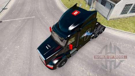 Скин Bitdefender на тягач Peterbilt для American Truck Simulator