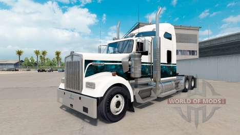 Скин Custom New Blue на тягач Kenworth W900 для American Truck Simulator