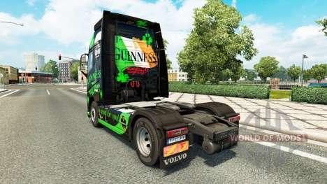 Скин Guinness на тягач Volvo для Euro Truck Simulator 2