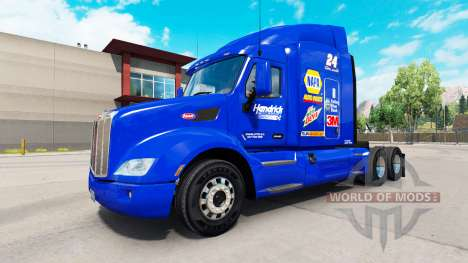 Скин Hendrick NAPA на тягач Peterbilt для American Truck Simulator