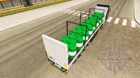 Полуприцеп Schmitz Castrol для Euro Truck Simulator 2