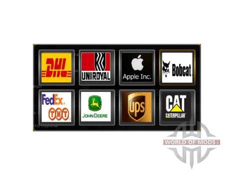 Логотипы реальных компаний для American Truck Simulator