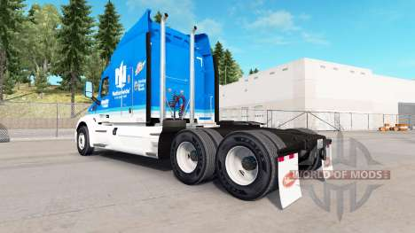 Скин Hendrick Nationwide на тягач Peterbilt для American Truck Simulator