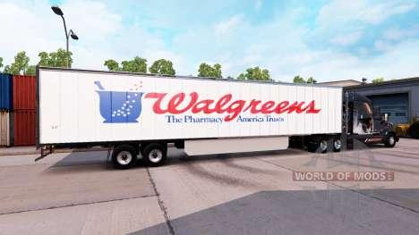 Скин WalGreens на полуприцеп для American Truck Simulator