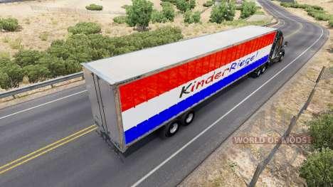 Скин Kinder Riegel на полуприцеп для American Truck Simulator