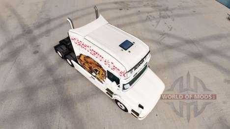 Скин Bear на тягач Scania T для American Truck Simulator