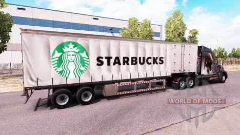 Шторный полуприцеп Starbucks для American Truck Simulator