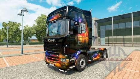 Скин Color Wall на тягач Scania для Euro Truck Simulator 2