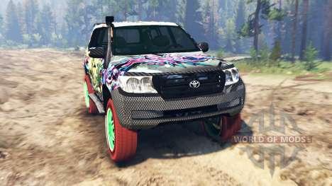Toyota Land Cruiser 200 [Monster Energy] для Spin Tires
