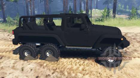 Jeep Wrangler 6x6 Turbo для Spin Tires