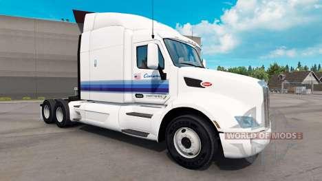 Скин Con-Way на тягачи Peterbilt и Kenwort для American Truck Simulator