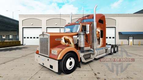 Скин The Bears Den на тягач Kenworth W900 для American Truck Simulator