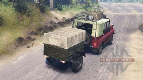УАЗ-31512 для Spin Tires