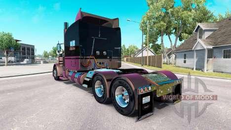 Скин Metallic 4 на тягач Peterbilt 389 для American Truck Simulator