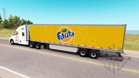Скин Fanta на тягач Kenworth для American Truck Simulator