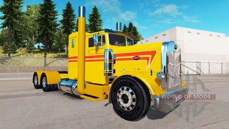 Скин Custom Yellow на тягач Peterbilt 351 для American Truck Simulator