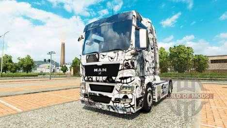 Скин Memes на тягач MAN для Euro Truck Simulator 2