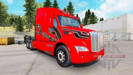 Скин Carbon Insertions на тягач Peterbilt для American Truck Simulator