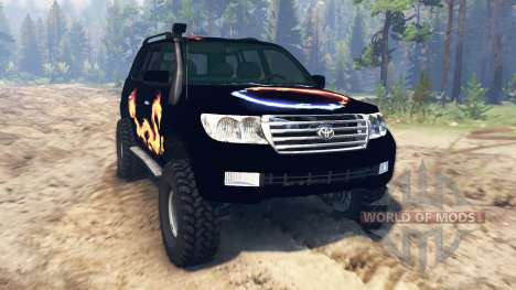 Toyota Land Cruiser 200 2008 для Spin Tires