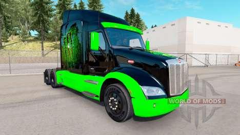 Скин Monster Energy на тягач Peterbilt для American Truck Simulator