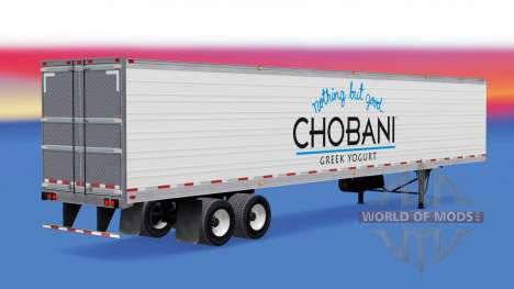 Скин Chobani на рефрижераторный полуприцеп для American Truck Simulator