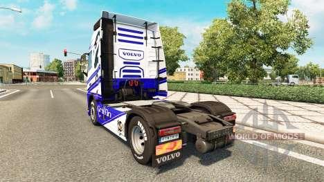 Скин Griffin на тягач Volvo для Euro Truck Simulator 2
