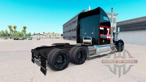 Скин Red-white stripes на тягач Kenworth W900 для American Truck Simulator