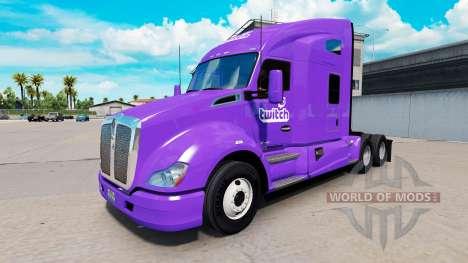 Скин Twitch на тягач Kenworth для American Truck Simulator