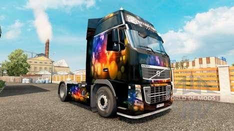 Скин Color Wall на тягач Volvo для Euro Truck Simulator 2
