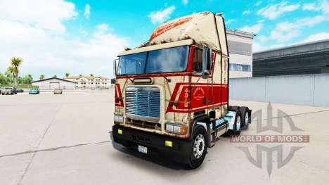 Скин Sherman Bros на тягач Freightliner FLB для American Truck Simulator