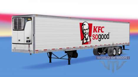 Скин KFC на рефрижераторный полуприцеп для American Truck Simulator