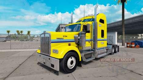 Скин Penske на тягач Kenworth W900 для American Truck Simulator