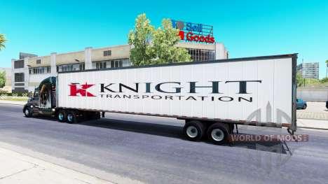 Цельнометаллический полуприцеп Knight для American Truck Simulator