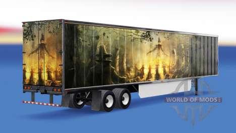 Скин Pumpkin на полуприцеп для American Truck Simulator