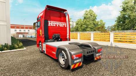 Скин Ferrari на тягач MAN для Euro Truck Simulator 2