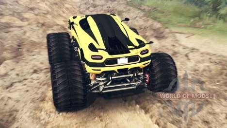 Koenigsegg One:1 Monster v2.0 для Spin Tires