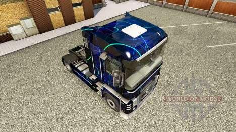 Скин Blue Smoke на тягач Renault для Euro Truck Simulator 2