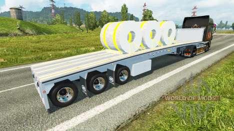 Полуприцеп с рулонами стали для Euro Truck Simulator 2