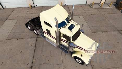 Скин Cream на тягач Kenworth W900 для American Truck Simulator