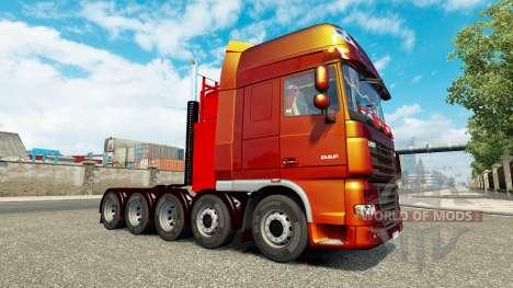 Дополнительное шасси к тягачу DAF XF для Euro Truck Simulator 2