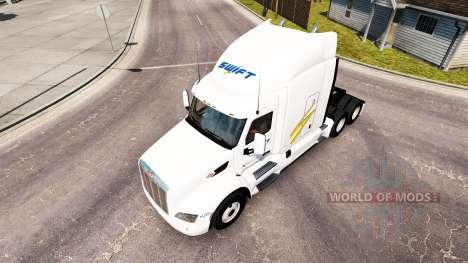 Скин Swift на тягач Peterbilt для American Truck Simulator