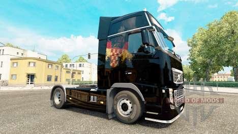 Скин Croatian Flag на тягач Volvo для Euro Truck Simulator 2