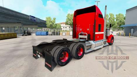Скин Red with White Stripe на тягач Kenworth для American Truck Simulator